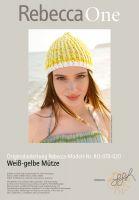 Strickmuster - Weiß-gelbe Mütze