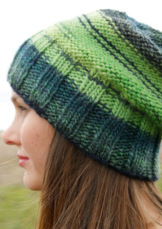 Bunte Strickmode: Melierte Mütze stricken
