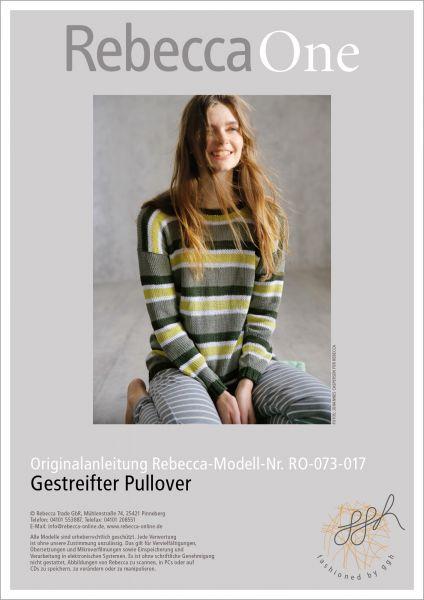 Strickanleitung - Gestreifter Pullover