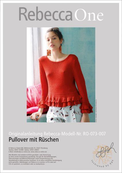 Strickanleitung - Pullover mit Rüschen