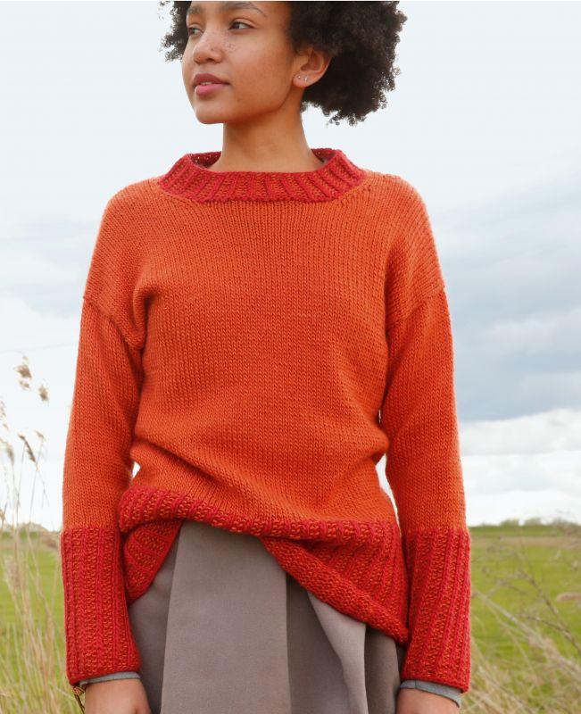 Pullover aus Mohair Seide Merinowolle stricken