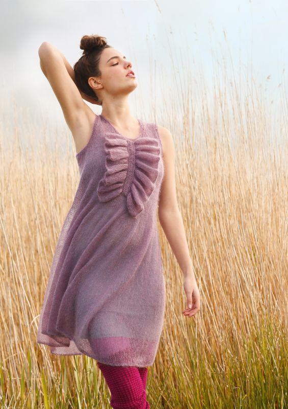 Kleid aus Mohair stricken