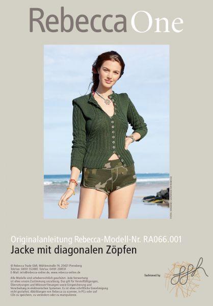 Jacke mit diagonalen Zöpfen