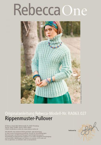 Rippenmuster-Pullover