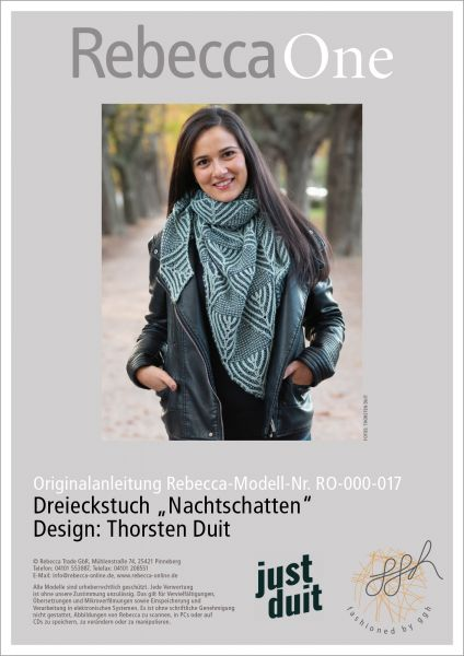 """Strickanleitung - Dreieckstuch """"Nachtschatten"""""""