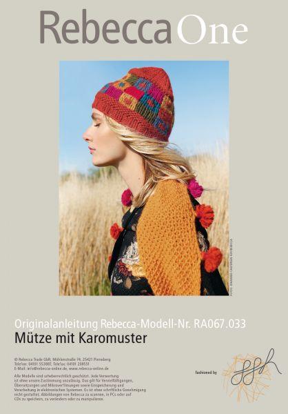 Mütze mit Karomuster