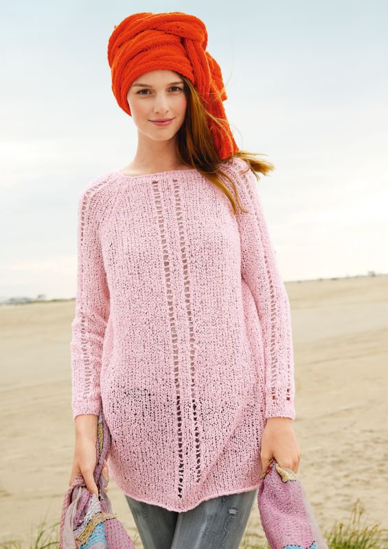 Raglan von oben Pullover stricken