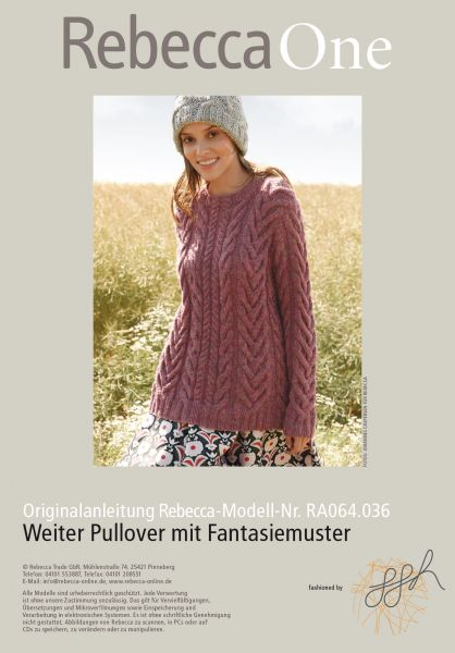 Weiter Pullover mit Fantasiemuster