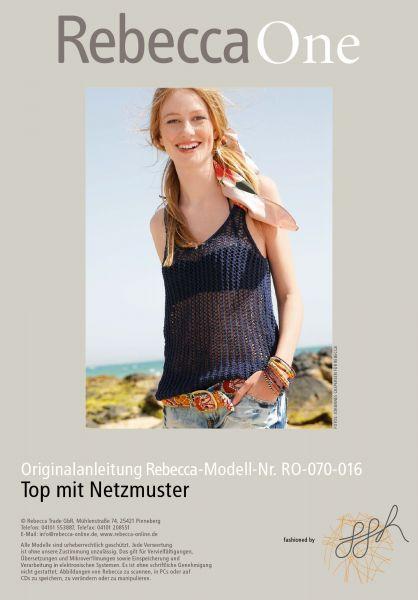 Strickmuster - Top mit Netzmuster