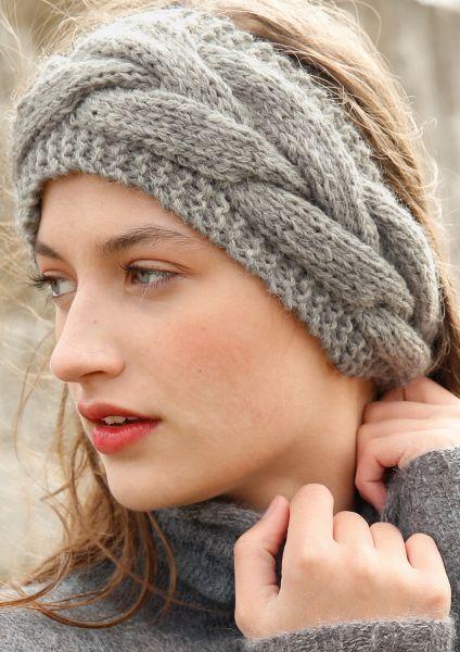 Stirnband mit Zopfmuster | Rebecca