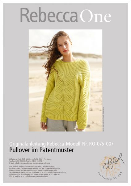 Strickanleitung - Pullover im Patentmuster