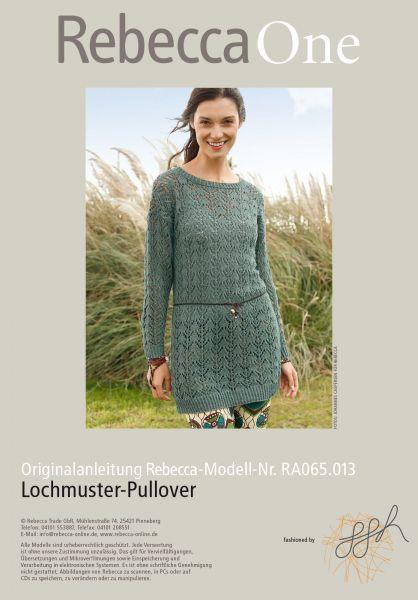 Langer Lochmuster-Pullover