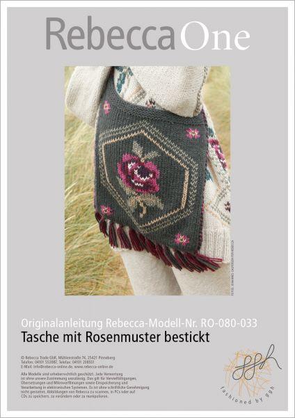 Anleitung - Tasche mit Rosenmuster