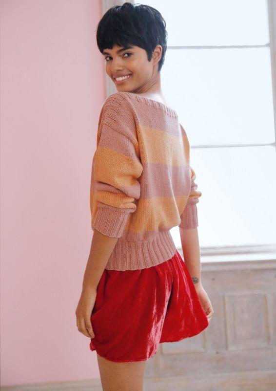 Pullover mit Blockstreifen stricken