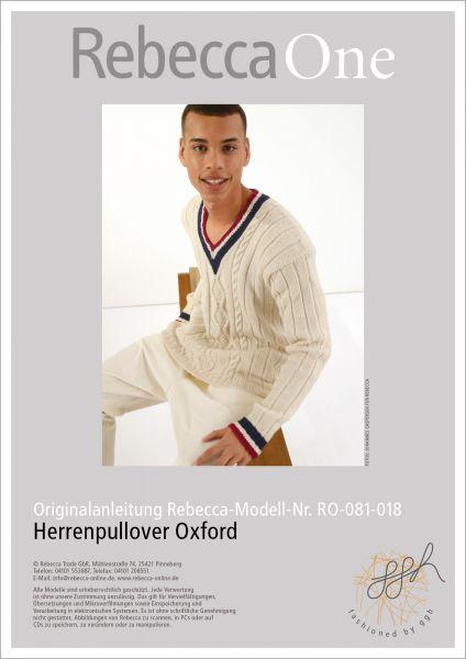 Anleitung - Herrenpullover Oxford