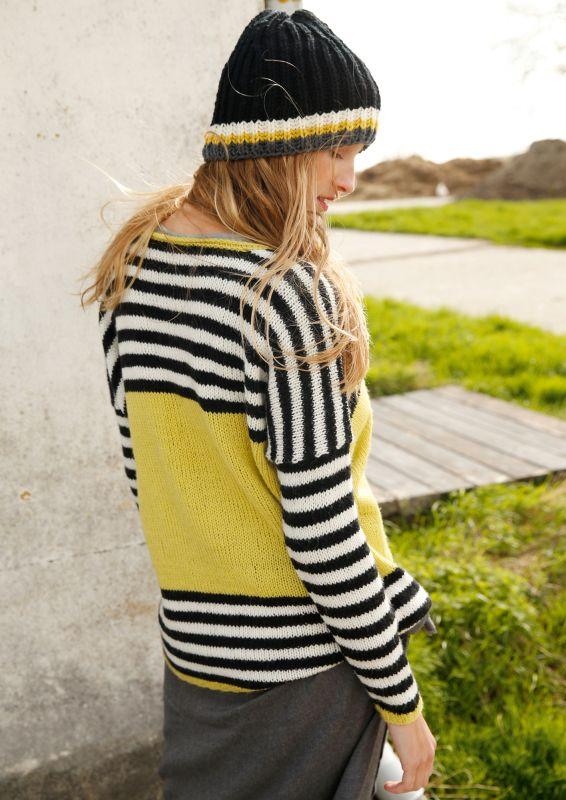 Pullover mit Ringeln stricken
