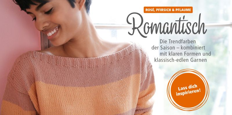 Romantische Strickdesigns in Pasteltönen