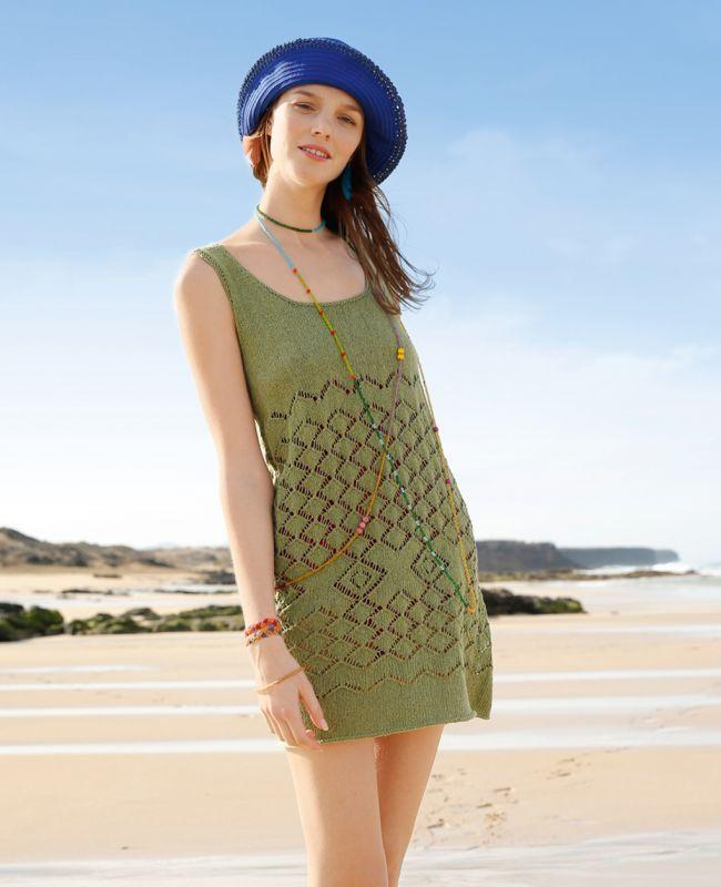 Strickanleitung Kleid aus recycelter Baumwolle