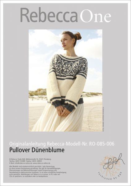 Anleitung - Pullover Dünenblume