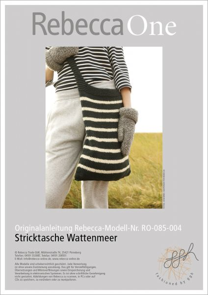 Anleitung -Stricktasche Wattenmeer