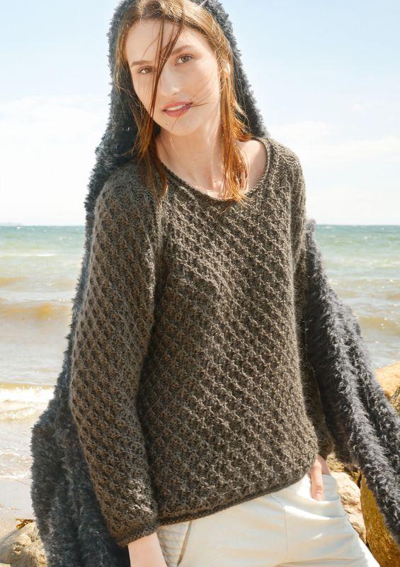 Pullover mit Strukturmuster stricken