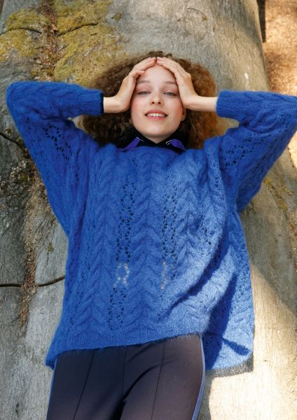 6ce162834 Knit pattern – Loose-fitting mohair jumper