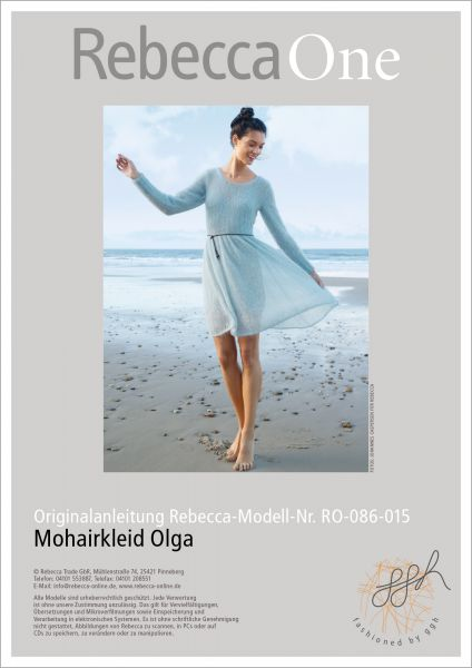 Anleitung Mohairkleid Olga