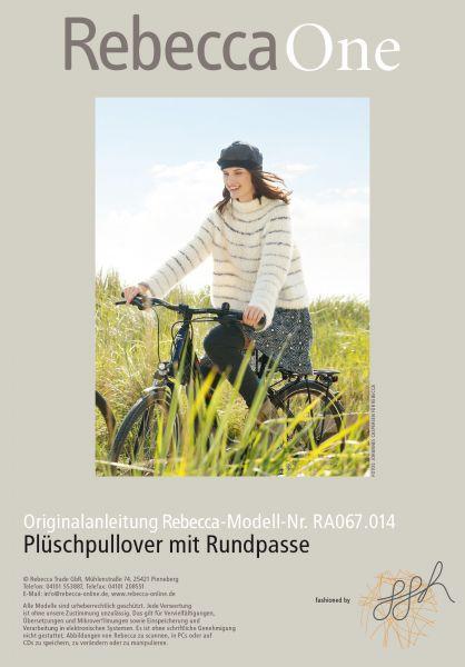 Plüsch-Pullover mit Rundpasse