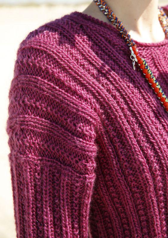 Rippenmuster Pullover stricken