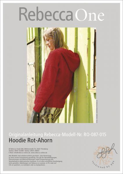 Hoodie Rot-Ahorn