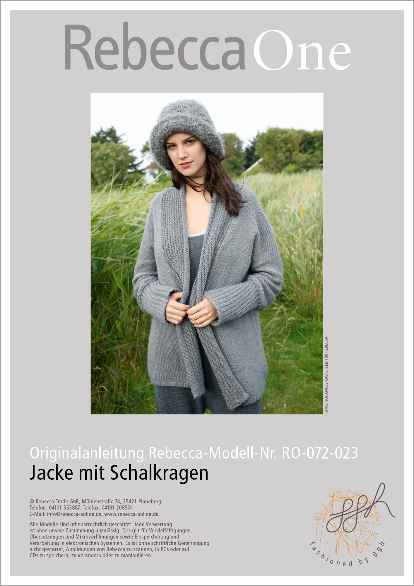 Strickanleitung Jacke Mit Schalkragen Rebecca