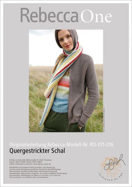 Strickanleitung - Quergestrickter Schal