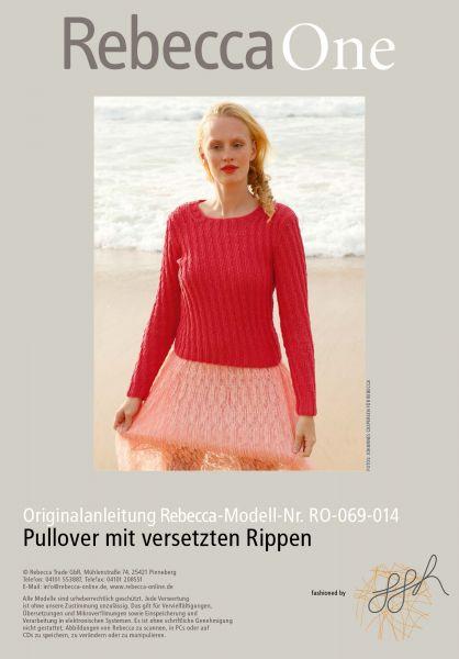 Strickmuster - Pullover mit versetzten Rippen