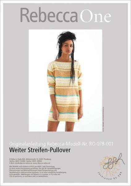 Anleitung - Weiter Streifen-Pullover