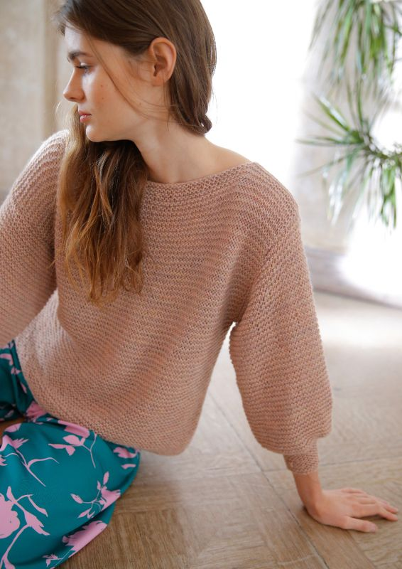 Strickpullover für Anfänger: kraus rechts gestrickter Pullover