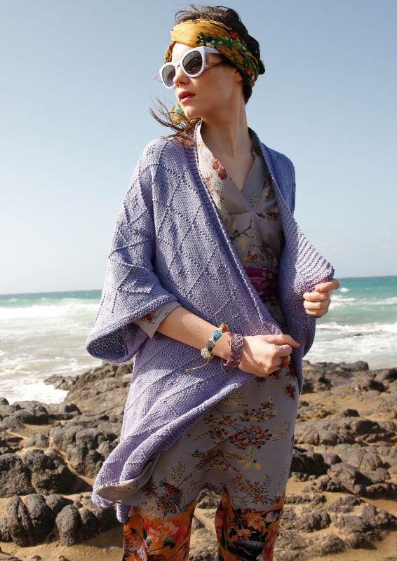 Kimono stricken in Lavendel