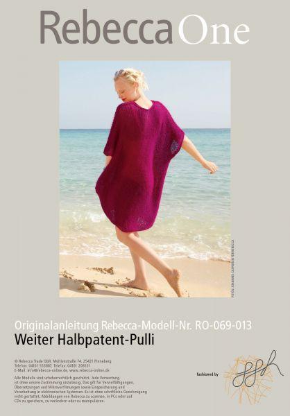 Weiter Halbpatent-Pulli