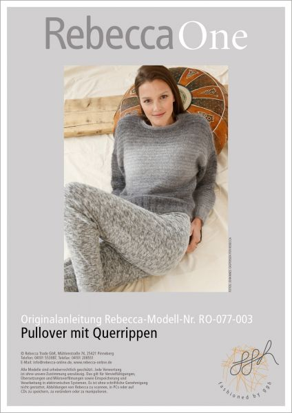Anleitung - Pullover mit Querrippen