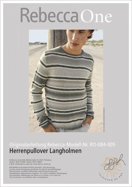 Anleitung - Herrenpullover Langholmen