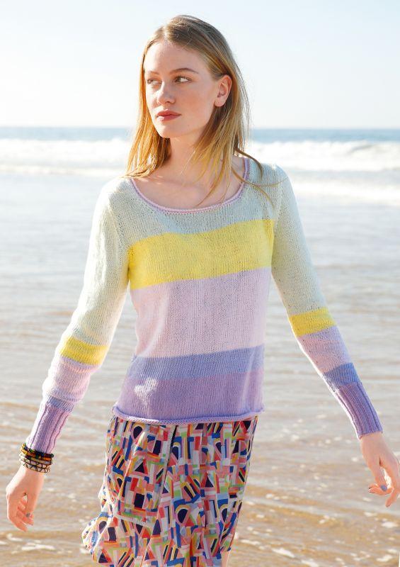 Strickset Sommer-Pullover mit Blockstreifen