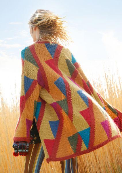Mantel mit Dreieck-Muster