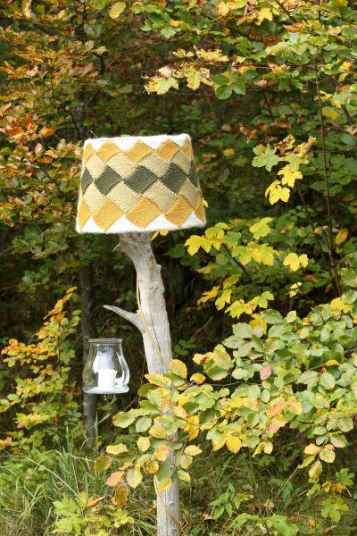 Lampenschirm - Stricken im Flechtmuster