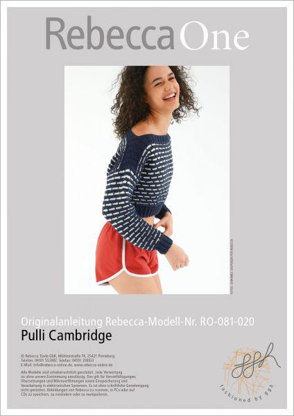 Anleitung - Pulli Cambridge