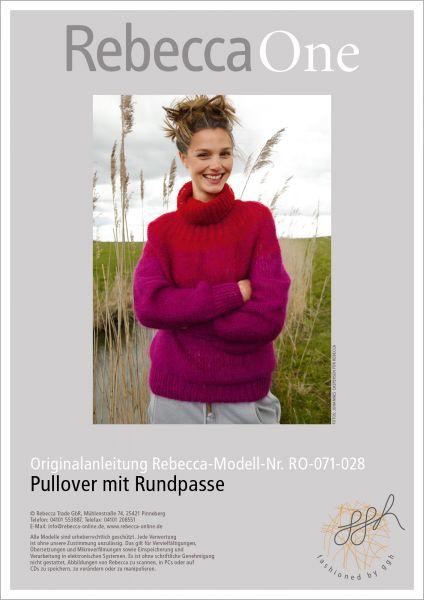 Strickanleitung Pullover mit Farbflächen