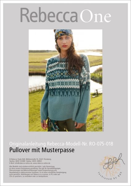 Strickanleitung - Pullover mit Musterpasse