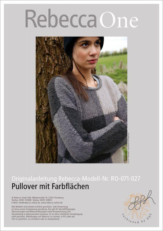 Strickmode in Trendfarbe Grau: Strickanleitung Pullover stricken