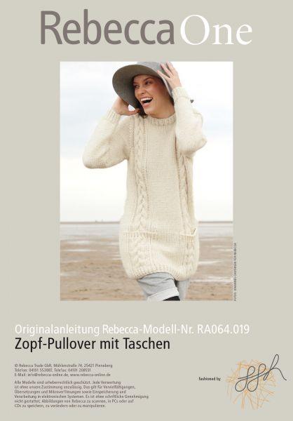 Zopf-Pullover mit Taschen