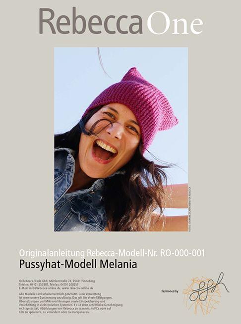 Pussyhat kostenlose Strickanleitung: Modell Melania
