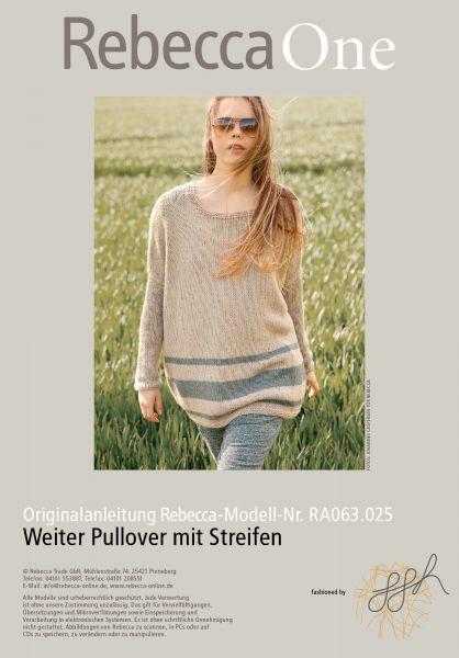 Weiter Pullover mit Streifen
