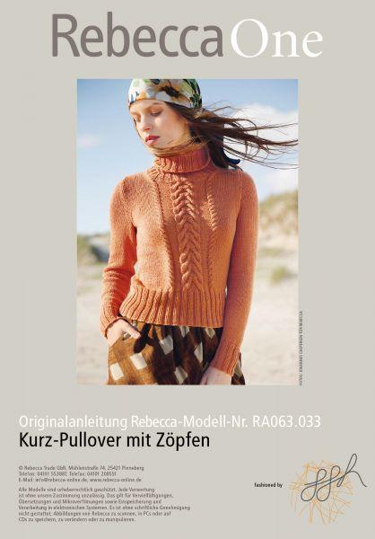 Kurz-Pullover mit Zöpfen